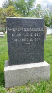 Andrew Marriner's headstone doesn't hint at the gruesome accident that took his life.