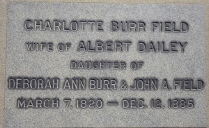 Charlotte Dailey is buried in the Old North Burial Ground, not far from the Civil War soldiers she served. © Debbie Hadley